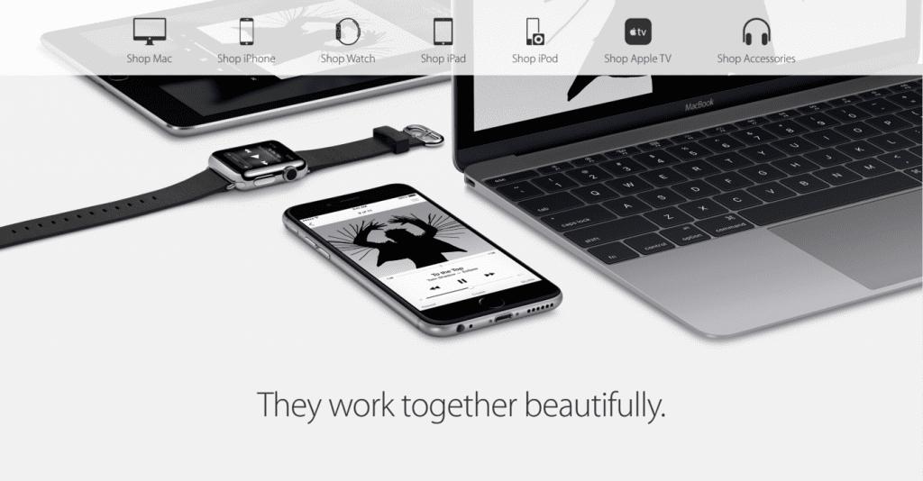 Apple's US online store 截圖