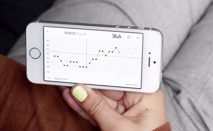 記錄女方的體溫變化 圖片來源 : Smart Design 官網截圖