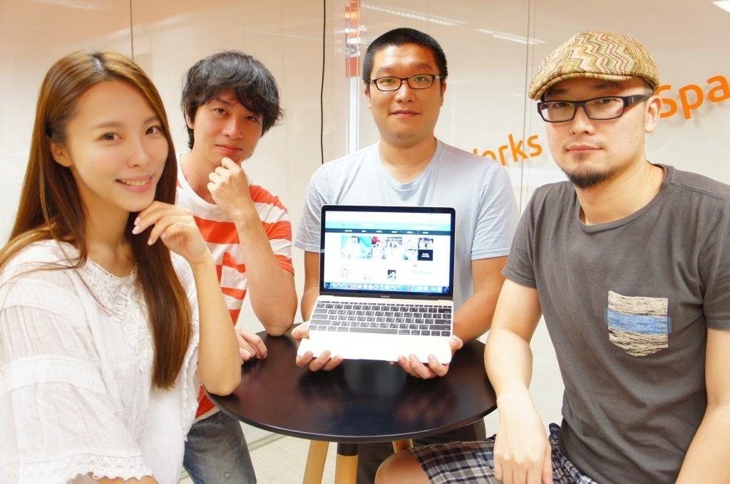 左起為 Wedding Day 創辦人小花、創意總監 Ben、創辦人兼 CEO 鍾尚志與創辦人亞當