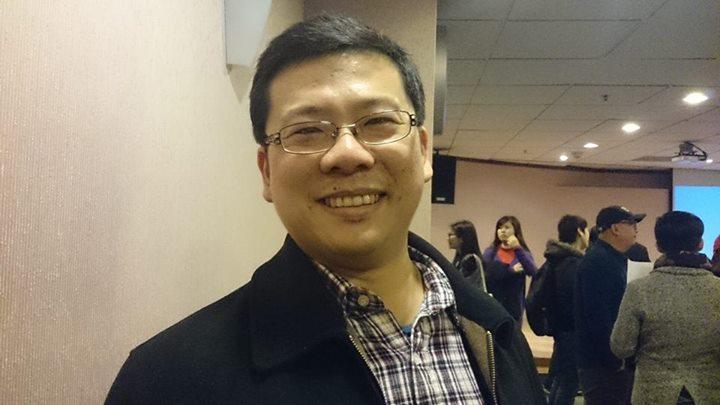 Yu-Bo Lian, the marketing director of Top1Health (photo credit: Gene Hong)