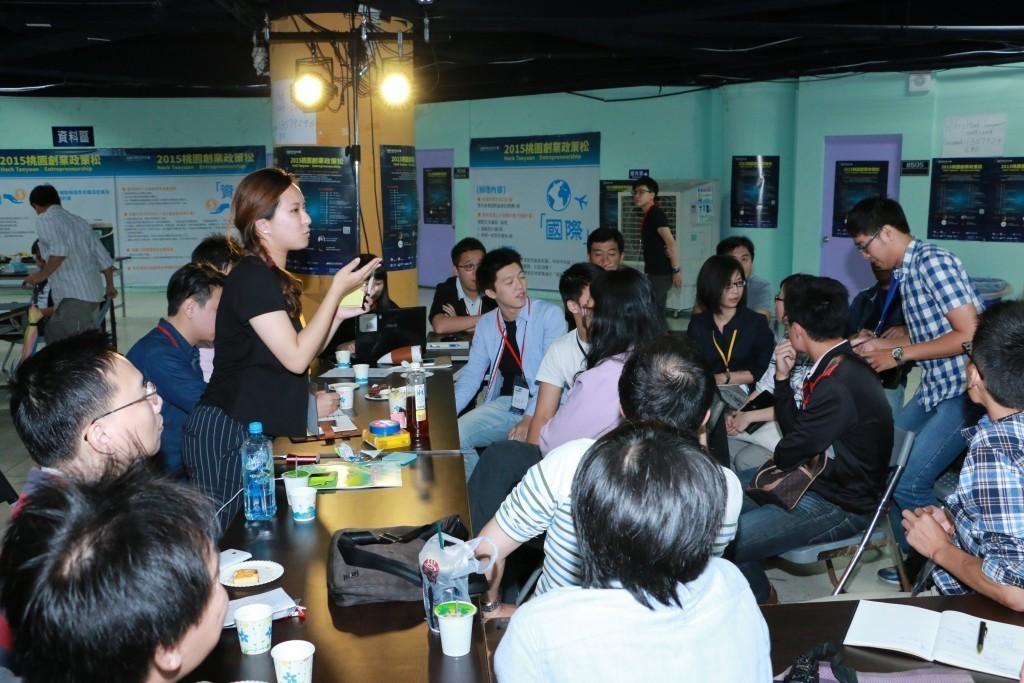 桃園市青年事務局舉辦「2015 TYC 桃園創業政策松」,邀請各界青年共同激盪描繪未來的桃園創業政策與環境藍圖