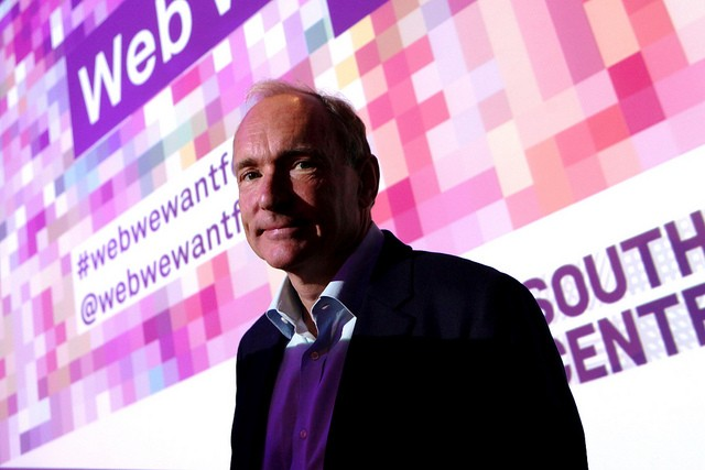 WorldWideWeb 設計者 Tim Berners-Lee(圖片來源:photo via Southbank Centre@flickr, CC License)