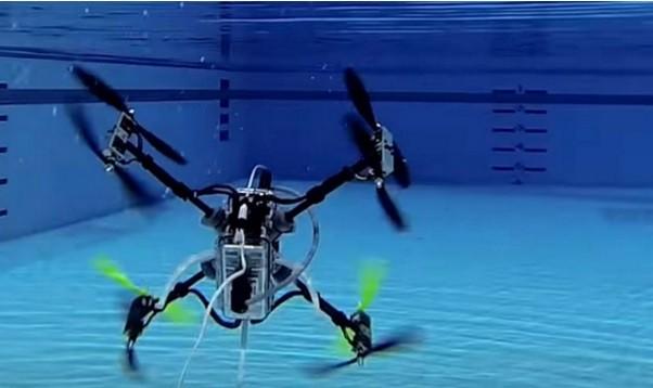 圖片來源:New Underwater Drone Flies AND Swims