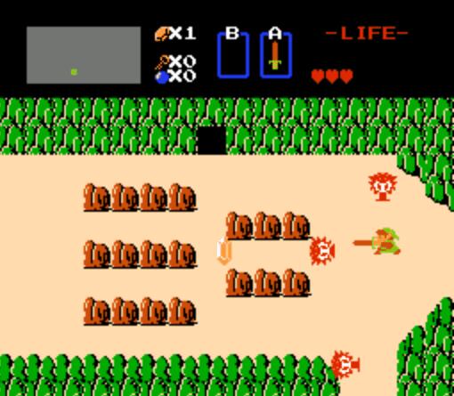 初代《薩爾達傳說》的遊戲畫面。圖片來源:Wikipedia