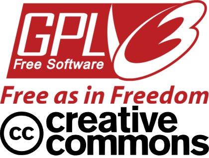 GNU GPL 證照標誌。 圖片來源: creativecommons.gr