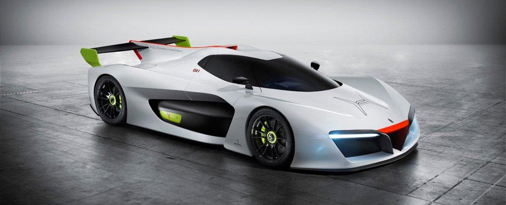 義大利品牌 Pininfarina 在日內瓦車展展示氫能跑車。圖片來源:Pininfarina