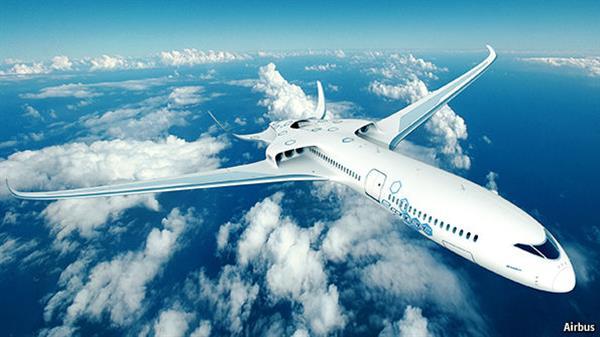 Airbus 構想的 90 人電動飛機 E-Trust。圖片來源:Airbus