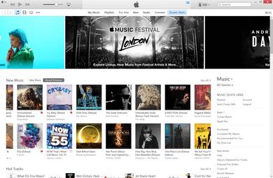 iTunes 使用介面。 圖片來源:Wikipedia