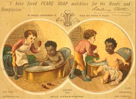 Pears' Soap 1884 年的廣告,圖片來源:Wikimedia。