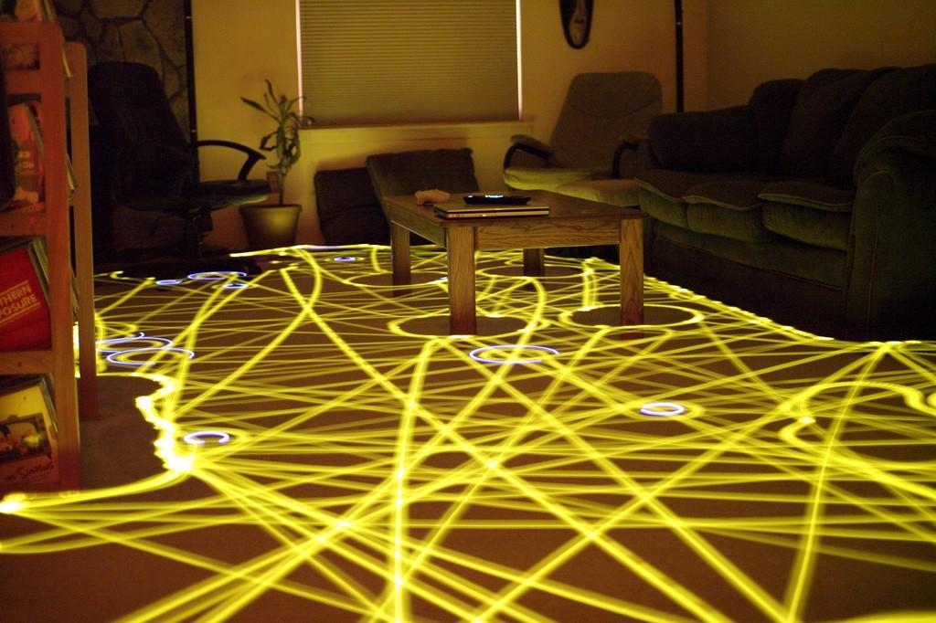 Roomba 打掃的軌跡,圖片來源:Wikipedia。