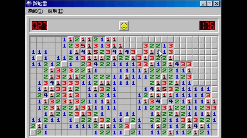 於 Windows 3.1 首度現身的「踩地雷」。圖片來源:Youtube