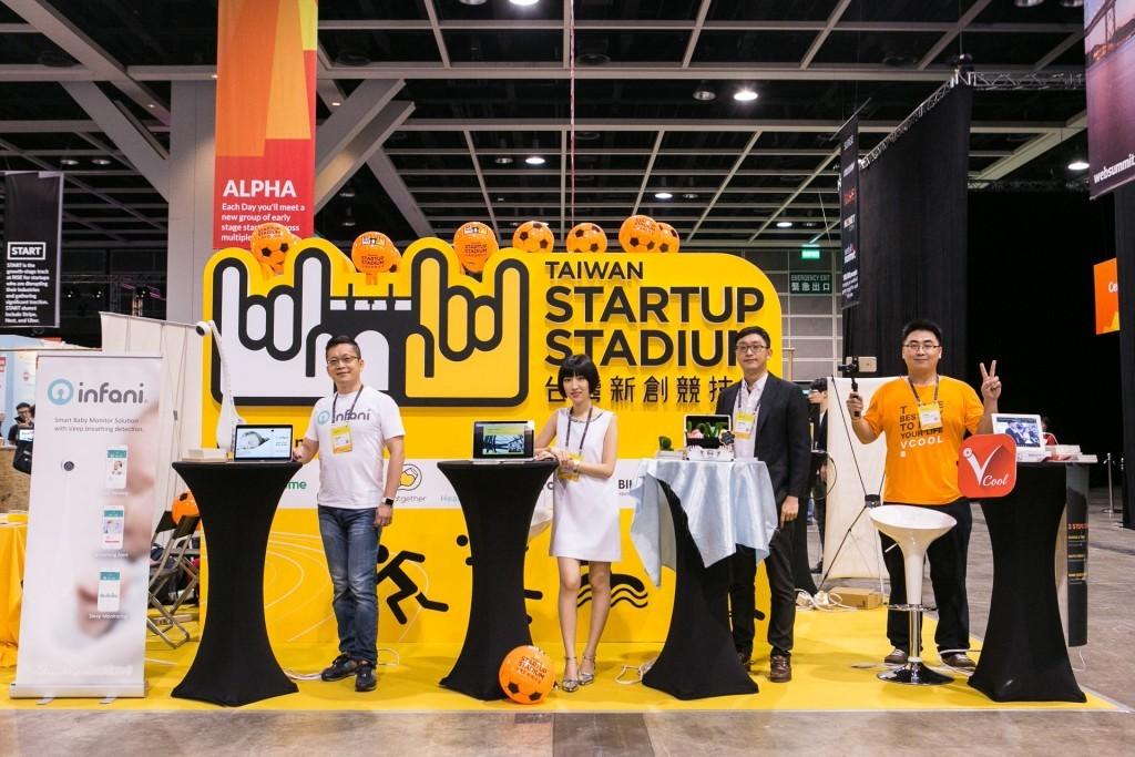 團隊由左至右為 Infani、Panobike+、LoveNuts、Vcool+,圖片來源:台灣新創競技場。