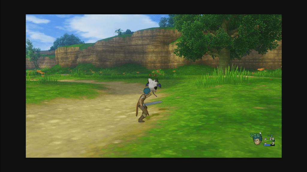 最新版的《勇者鬥惡龍 X 》(PC)遊戲畫面。可以看出儘管是 3D 畫面、並且已改為多人連線的網路遊戲,但經典的遊戲基底依然可見。圖片來源:Youtube
