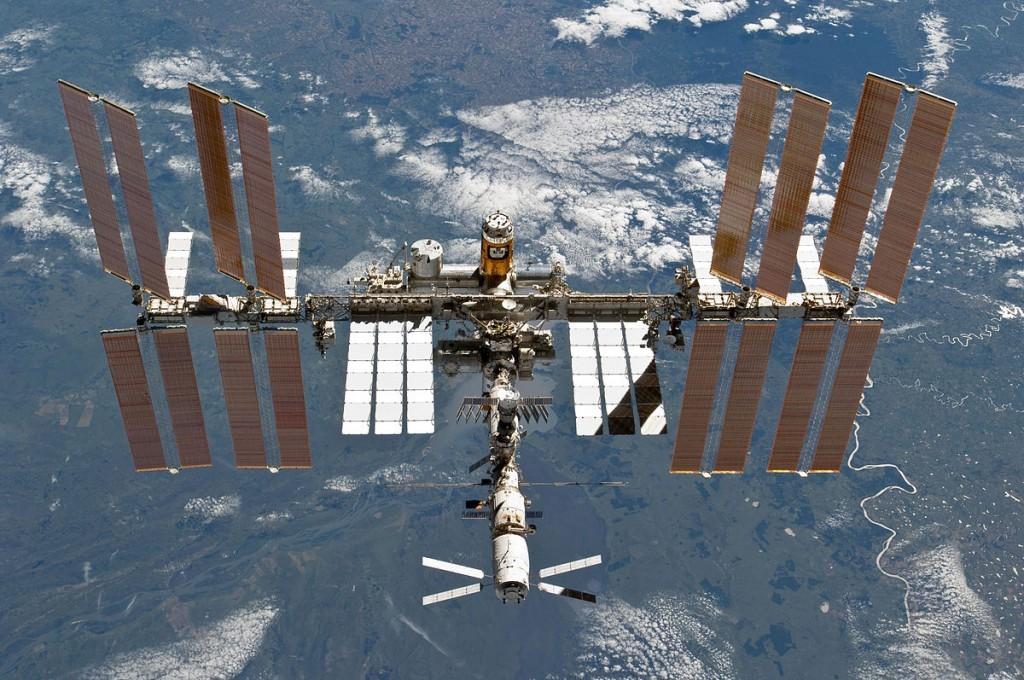 國際太空站。 圖片來源:Wikipedia