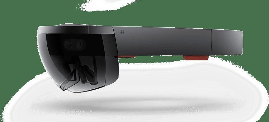 Microsoft Hololens。圖片來源:Wikipedia by Microsoft Sweden