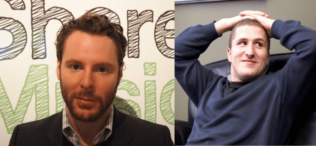 Napster 兩位創辦人,派克(左)和范寧(右)。 圖片來源:Wikipedia