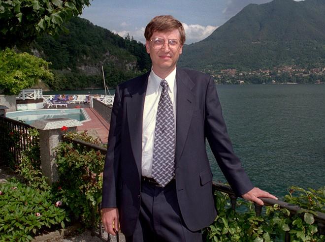 1995 年的比爾蓋茲。 圖片來源:Wired.com