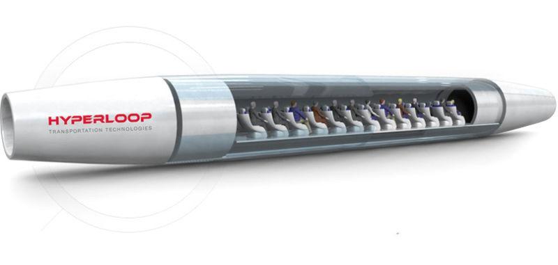 超級高鐵的車廂示意圖。圖片來源:HTT