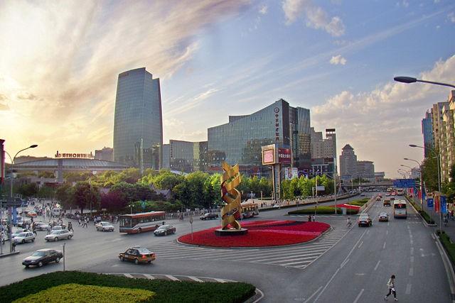 中關村廣場。圖片來源:Charlie fong @wikipedia