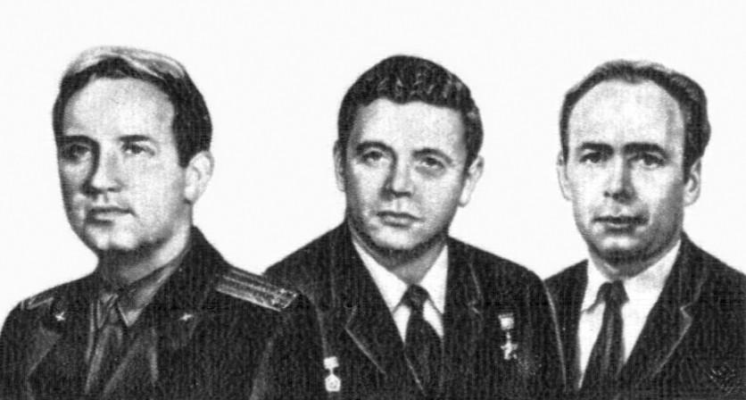 執行「聯盟 11 號」任務的三位太空人。 圖片來源:Wikipedia