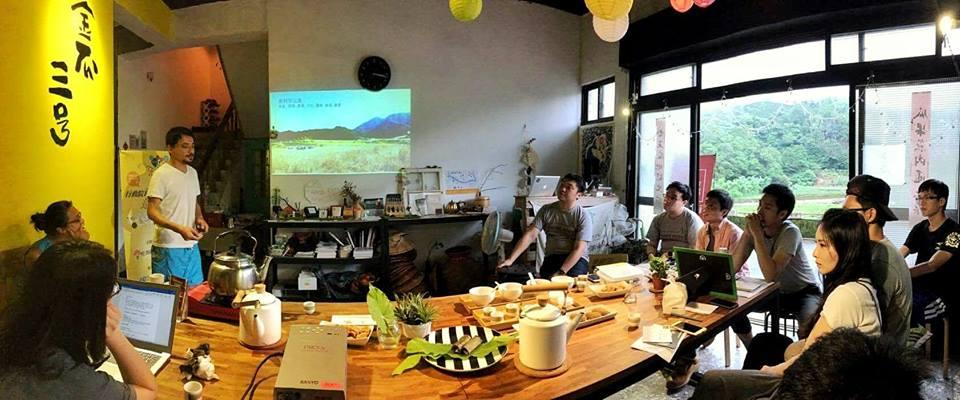 金瓜三號與幸福果食的分享(照片取自 Impact Hub Taipei)