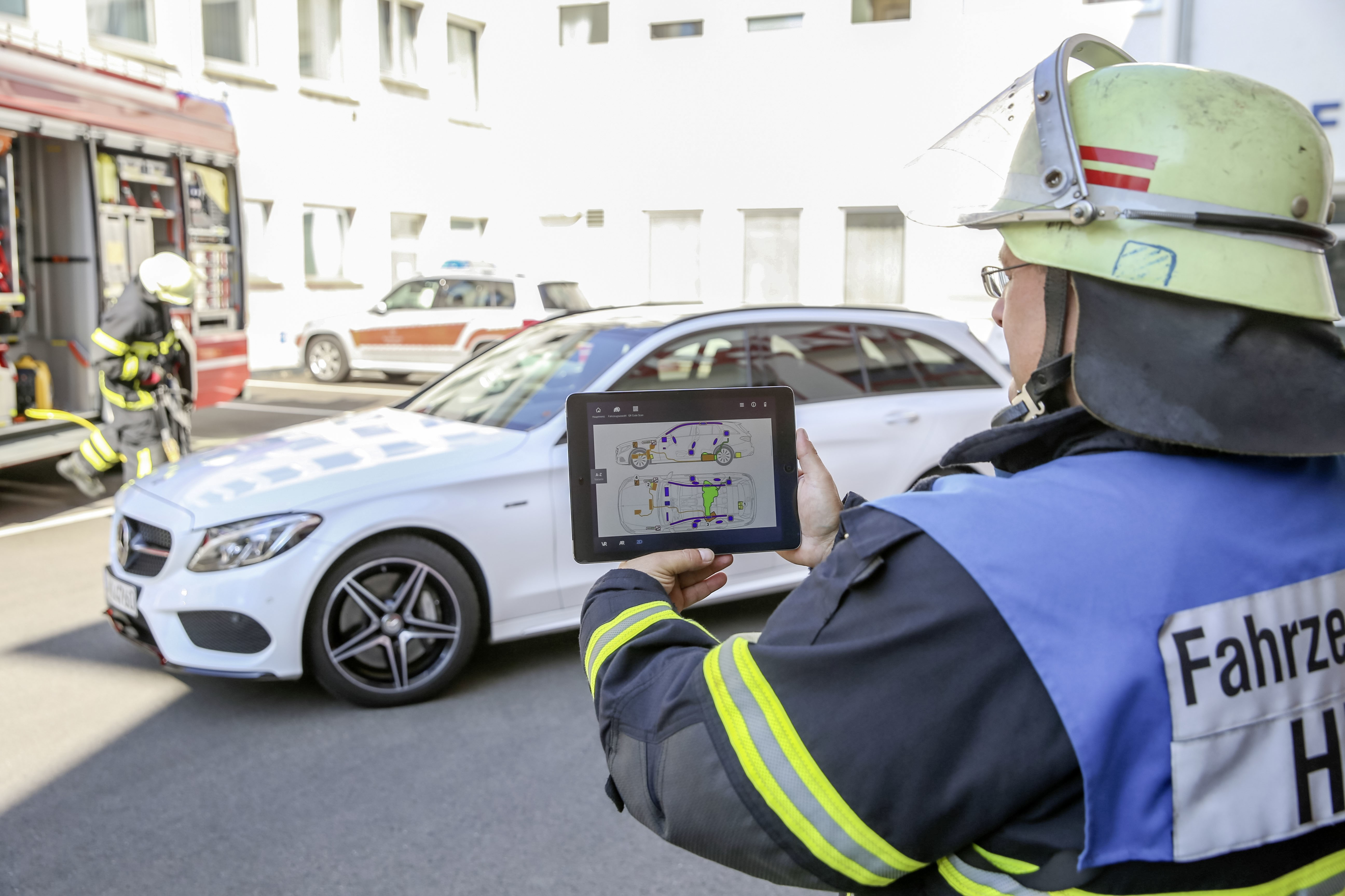 Mercedes-Benz Rescue Assist App。圖片來源:Daimler