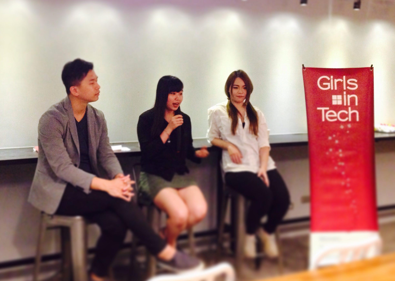 左起為 Hana(照片來源:Girls in Tech Taiwan)