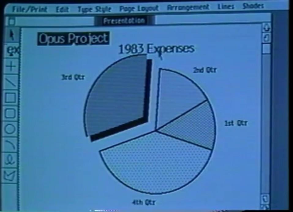 Lisa 電腦使用介面。(圖片來源:影片截圖)