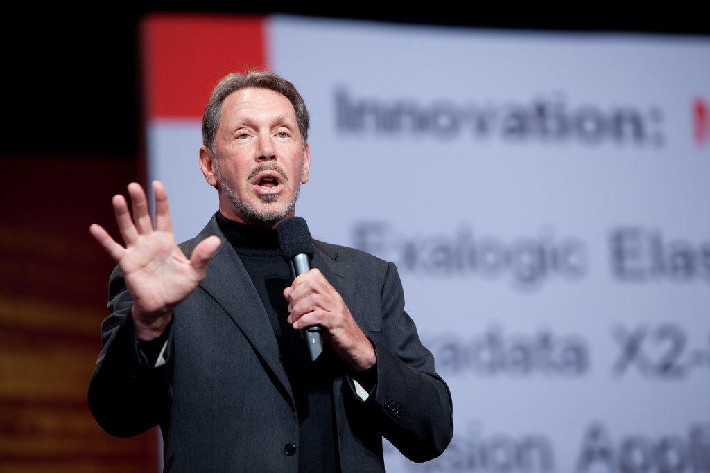 甲骨文董事長艾里森,圖片來源:Oracle PR @Flickr, CC Licensed.