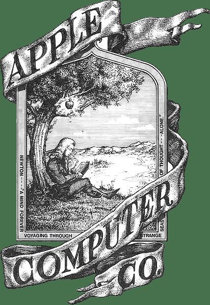 圖片來源:Wikipedia。Newton 計畫名稱的靈感是來自於蘋果公司的原始商標