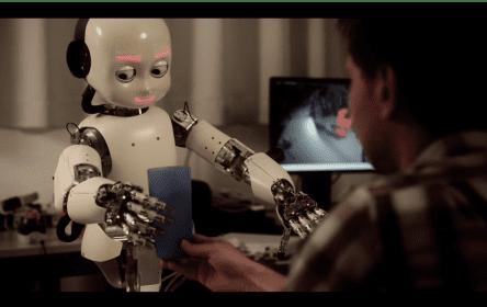 機器人與人類互動。圖片來源:Wikipedia