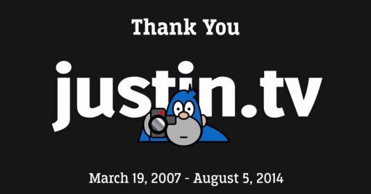 Justin.tv 的起訖時間。圖片來源:Justin.tv