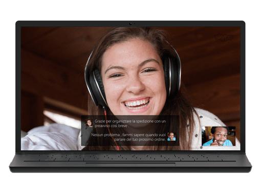 Skype 即時翻譯功能。圖片來源:Skype