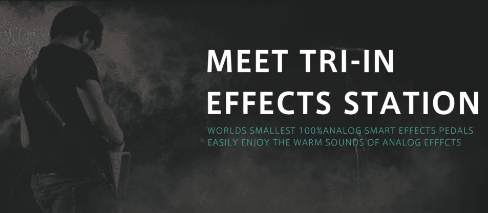 Tri-in 號稱是世界上最小的 100% analog 智能效果器(圖片截自 Tri-in)
