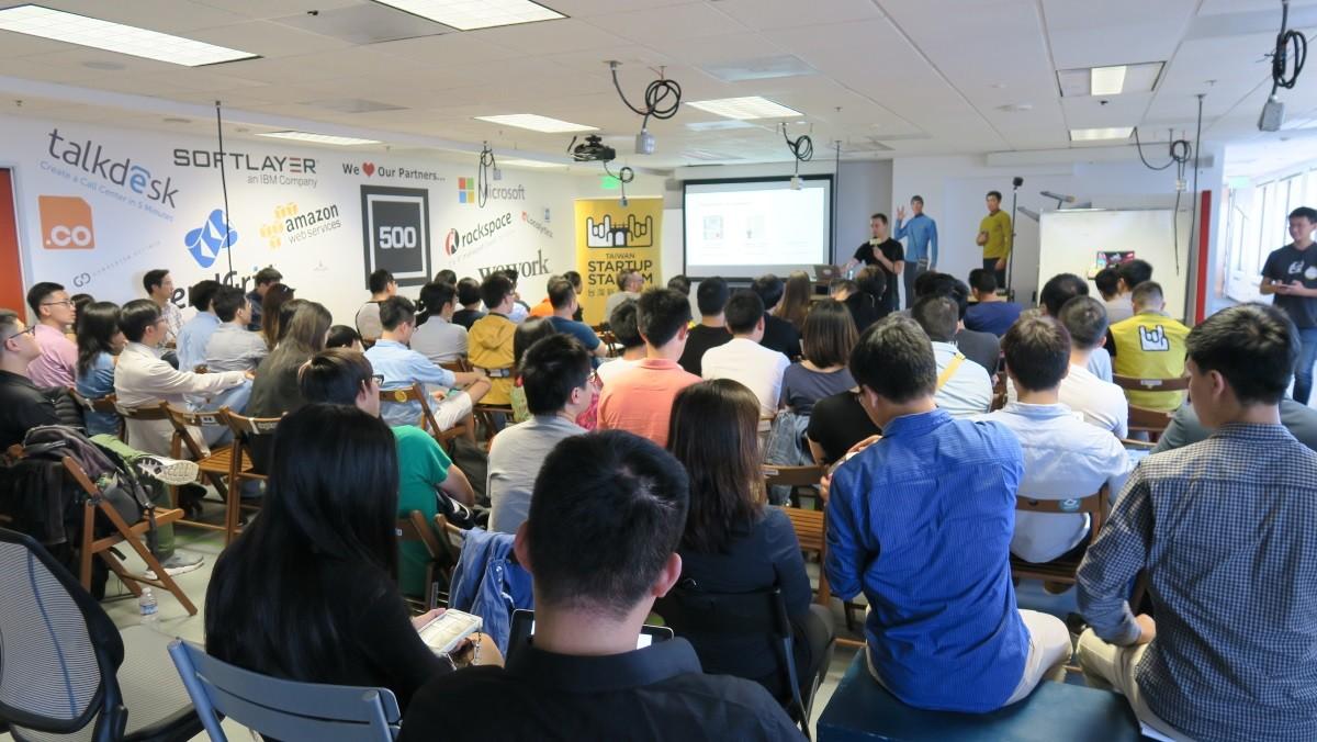 TSS 與 TWXUD 合辦的 Show-n-Tell 活動。現在來了許多正在當地交流或常駐的台灣創業家 、資深從業者與他們的朋友