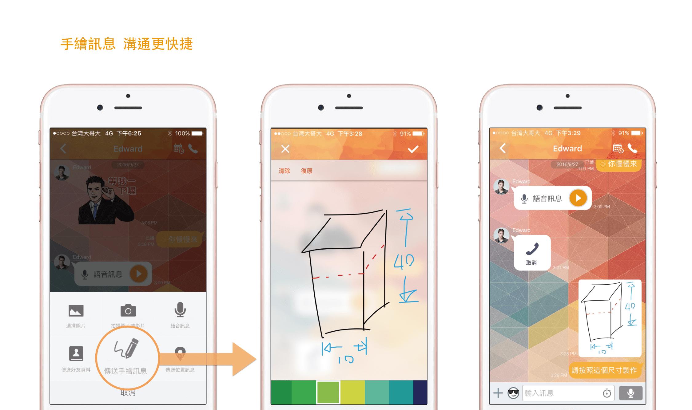 App 系統手繪功能示意圖。圖片來源:BIM Box
