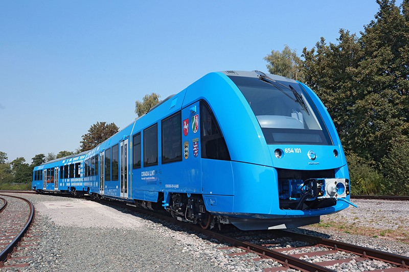 iLint 氫能火車。圖片來源:Alstom