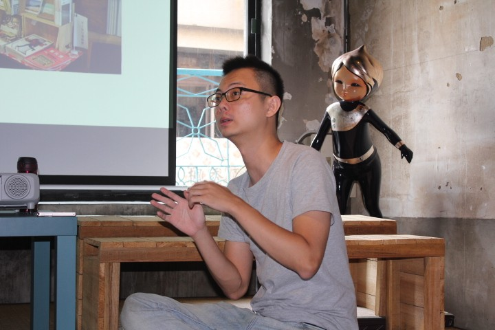 《貢丸湯》主編、同時也是見域工作室共同創辦人的謝爾庭(見域工作室 攝)