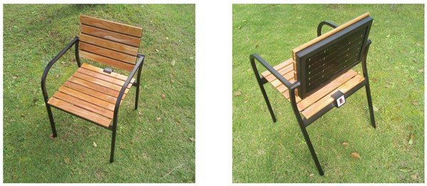 太陽能椅外觀(來源:Sharp)