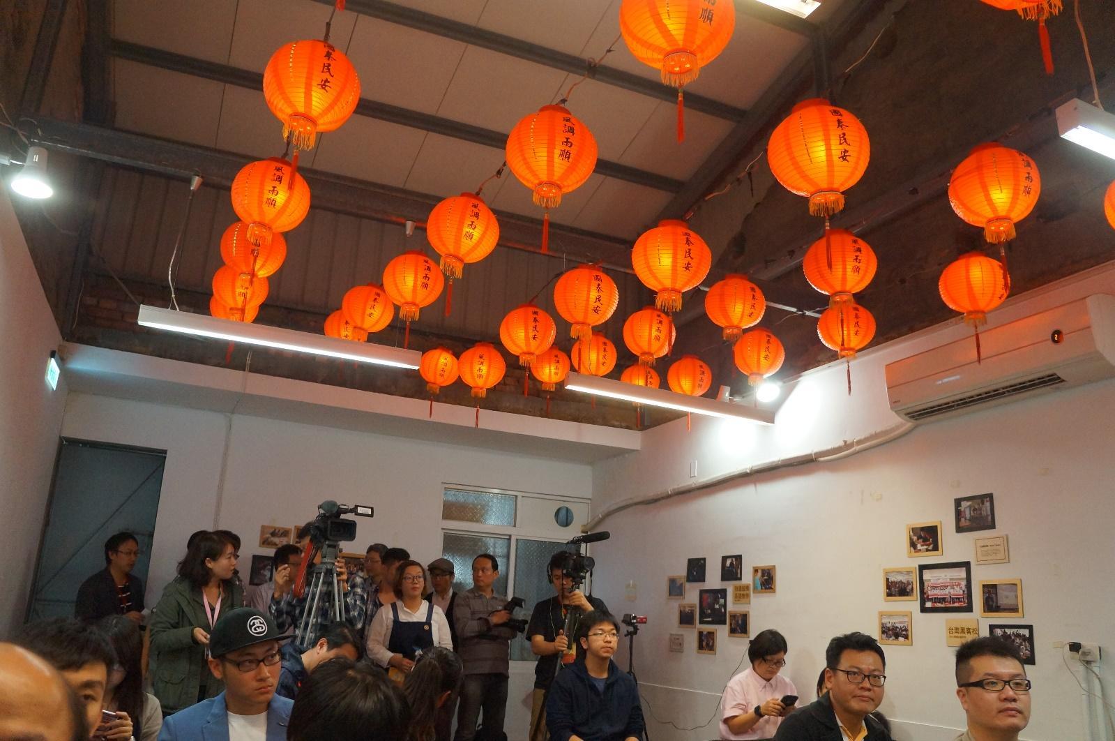 古城風的懷舊紅燈籠由台南唯一的燈籠供應商熱情贊助。圖片來源:PanX 攝影